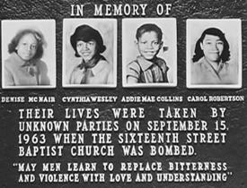 The 4 Girls Who Lost Their Lives At The 16th Street Baptist Church on September 15th, 1963