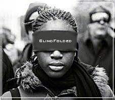 Black Woman Blindfolded