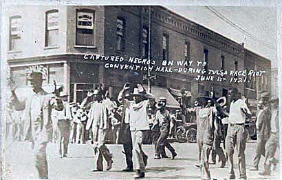 Captured Negroes On The Way to Convention Hall During Tulsa Race Riot: June 1st 1921