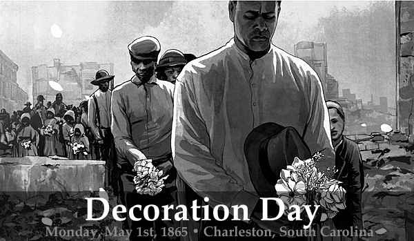 Memorial day issue martyrs of the race course for Decoration day