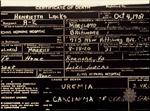 Henrietta Lacks Death Certificate