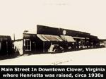 Main Street In Clover, Virginia
