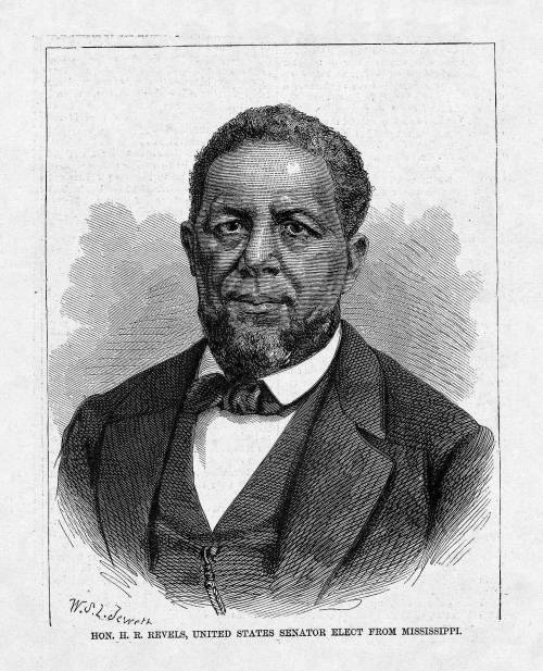 """a biography of hiram rhoades revels the first african american member of the congress The first black american seated as a member of the united states senate   charles douglass calls swearing-in of senator hiram revels """"one of the  greatest days in the history of this country""""  hiram rhodes revels (national  archives)  according to black americans in congress, """"revels arrived in."""