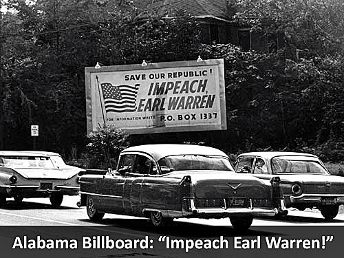 Alabama Billboard: Impeach Earl Warren!