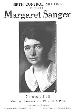 Margaret Sanger Flyer