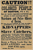 1850 Boston Slave Notice