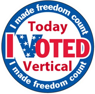 Today I Voted Vertical